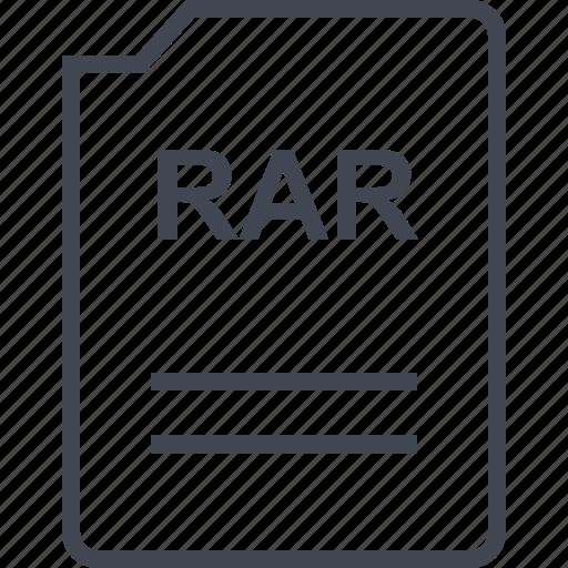 doc, document, page, rar icon