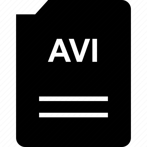 avi, doc, document, page icon
