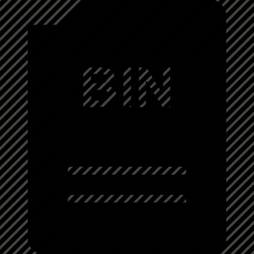 bin, bit, doc, document, file icon