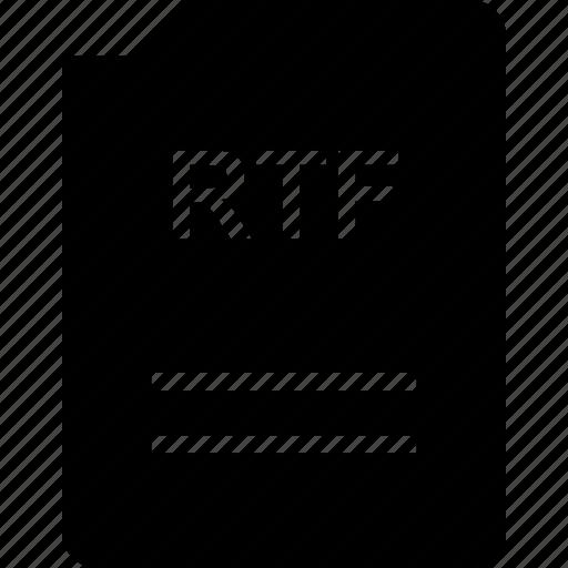 doc, document, page, rtf icon