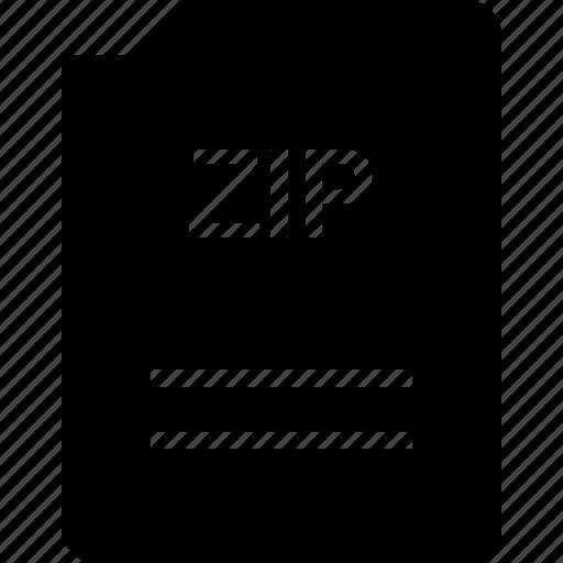doc, document, page, zip icon