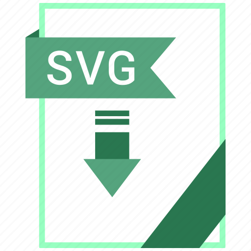 document, extension, format, paper, svg file icon