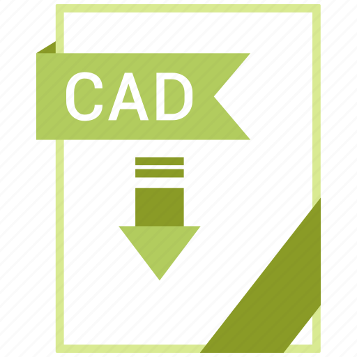 Cad, paper, document, extension, format icon