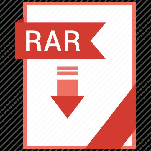 Paper, rar, document, extension, format icon