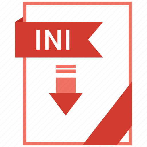 Document, extension, format, ini, paper icon - Download on Iconfinder