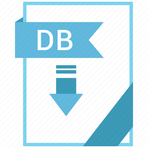 db, document, extension, format, paper icon