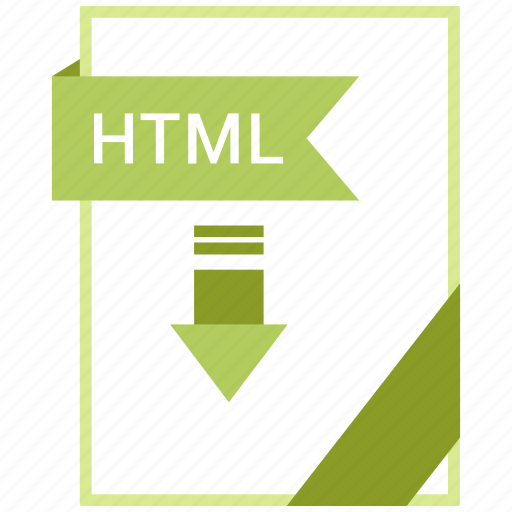 Paper, html, document, extension, format icon - Download