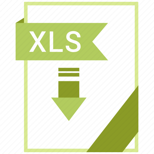 Document, xls, extension, file icon