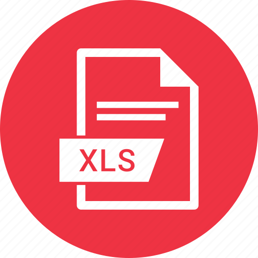 document, extension, file, xls icon