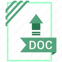 doc, document, extension, file icon
