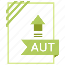 aut, file, file extension, format icon