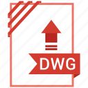 adobe, document, dwg, file icon