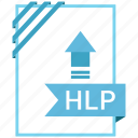 adobe, document, file, hlp icon