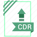 adobe, cdr, document, file icon