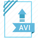 adobe, avi, document, file icon