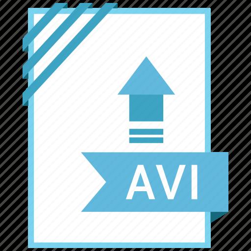 adobe, avi, document, file icon