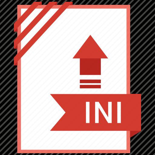 Document, adobe, ini, file icon