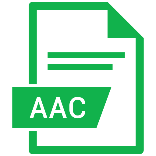 aac, document, extension, format, paper icon