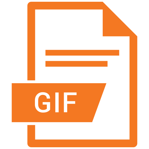 extension, file, file format, gif icon