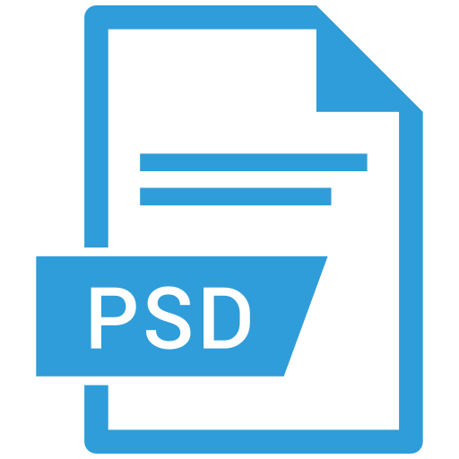 photoshop extension, photoshop file, psd, psd file icon