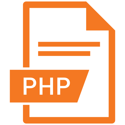 document, extension, format, paper, php icon