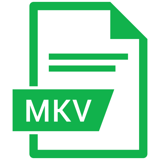 document, extension, format, mkv, paper icon