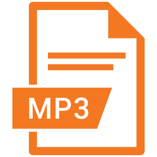 document, extension, format, mp3, paper icon