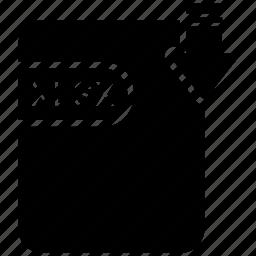 document, extension, folder, paper, xlsx icon
