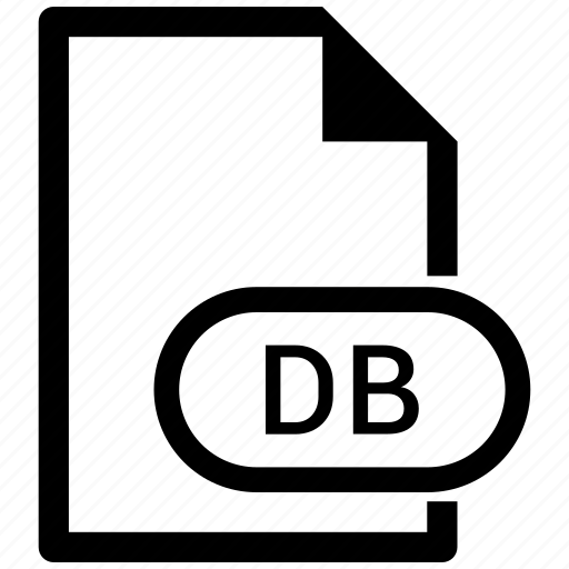 db, document, download, extension, file, format icon