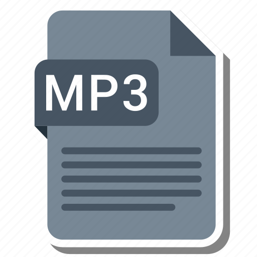 document, extension, format, mp3 icon