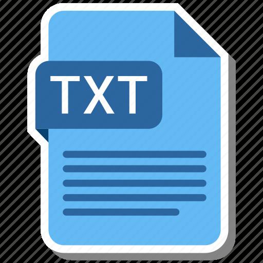 Txt, folder, paper, document, extension icon - Download