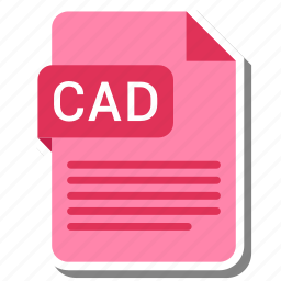 cad, document, extension, folder, paper icon
