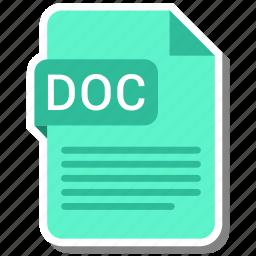 doc, document, extension, folder, paper icon