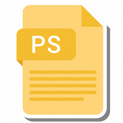 Document, extension, folder, paper, ps icon - Download on Iconfinder