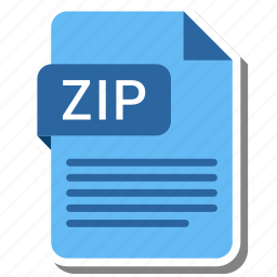 document, extension, file, type, zip icon