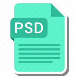document, extension, folder, paper, psd icon