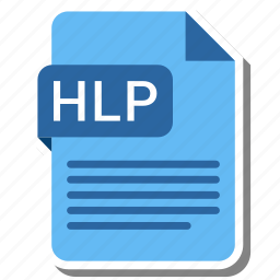 document, extension, folder, hlp, paper icon