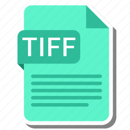document, extension, folder, paper, tiff icon