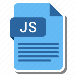 document, extension, folder, js, paper icon