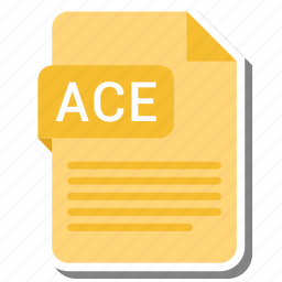 ace, document, extension, folder, paper icon