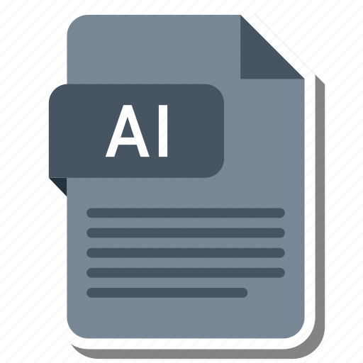 ai file, document, extension, file format, folder, image, paper icon