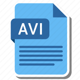 avi, document, extension, file format, folder, image, paper icon