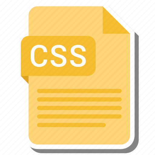 css, document, extension, file format, folder, image, paper icon