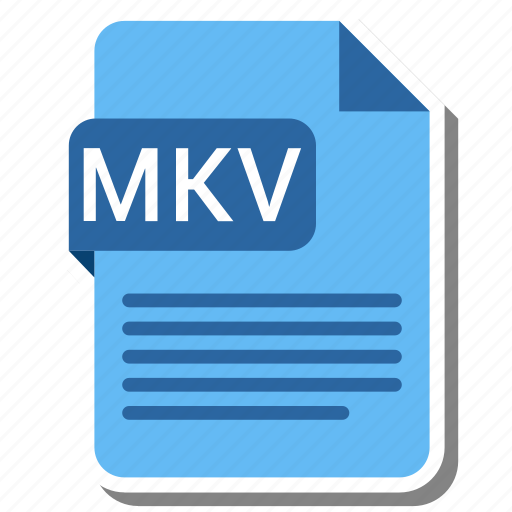 document, extension, file format, folder, image, mkv, paper icon