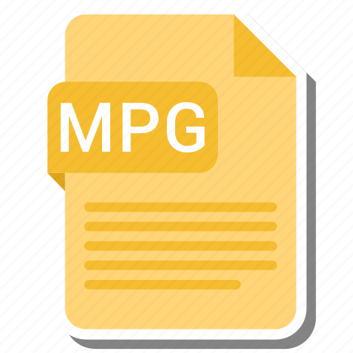 document, extension, file format, folder, image, mpg, paper icon