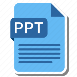document, extension, file format, folder, image, paper, ppt icon