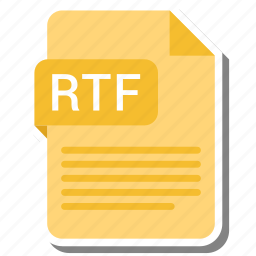 document, extension, file format, folder, image, paper, rtf icon