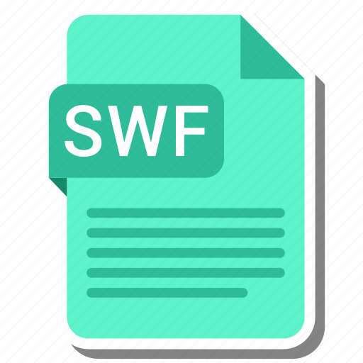 document, extension, file format, folder, image, paper, swf icon