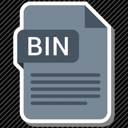 bin, document, extension, file format, folder, image, paper icon