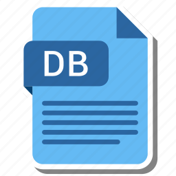 db, document, extension, file format, folder, image, paper icon